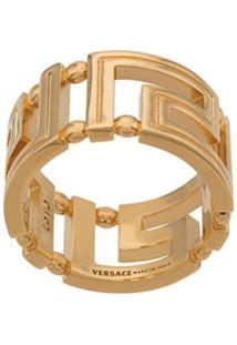 Versace Anel Greca Com Vazado - Dourado