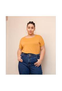 Blusa Básica Sem Cava Curve & Plus Size | Ashua Curve E Plus Size | Amarelo | Eg