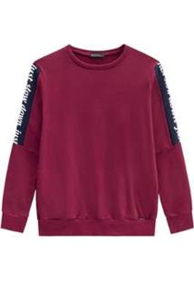Blusão Alenice Moletom Plus Size Feminino - Feminino-Vinho