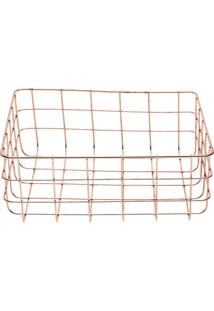 Cesta Ferro Copper Wire Square Cobre 24.5X20X9.5Cm Urban