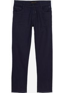 Calça Dudalina Jeans Stretch Five Pockets Masculina (Jeans Escuro, 60)
