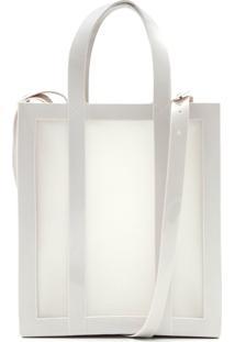 Bolsa Melissa Transparente Branca