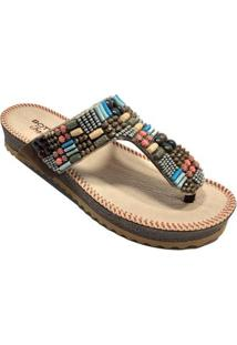 Chinelo Bottero Birken Tropical Feminino - Feminino-Marrom