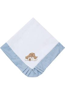 Manta Enxoval Piquet Padroeira Baby Ursos Travessos Azul - Azul - Menino - Dafiti