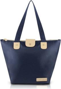 Bolsa Jack Design Dobrável - Feminino-Azul Escuro