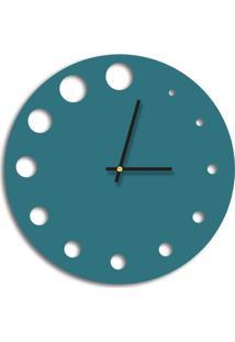 Relógio De Parede Decorativo Premium Ágata Com Detalhes Vazado Médio