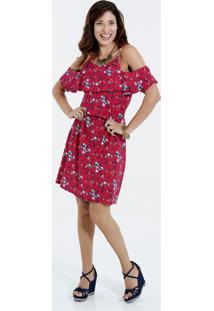 e21a17f23 ... Vestido Feminino Open Shoulder Estampa Floral Marisa