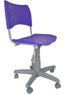 Cadeira Giratória Iso Plástica Base Cinza - Roxo