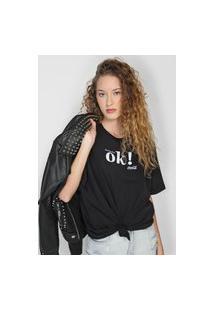 Camiseta Coca-Cola Jeans Ok Preta