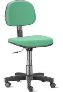 Cadeira Secretária Giratória Crepe Verde Claro