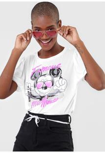 Blusa Cativa Disney Famous Mickey Branca - Kanui