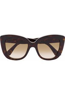 Gucci Eyewear Armação De Óculos Gatinho Degradê - Marrom