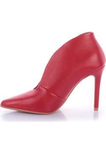 Ankle Boot Esmí 4032-05425 Di Valentini Napa Vermelho (Fenice Scarlet) Vermelho