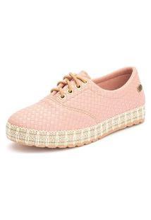 Tênis Sapatênis Casual Ousy Shoes Fácil Calce Rosa