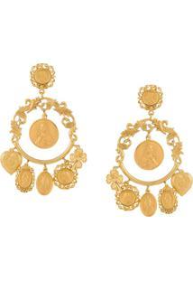 Dolce & Gabbana Par De Brincos - Dourado
