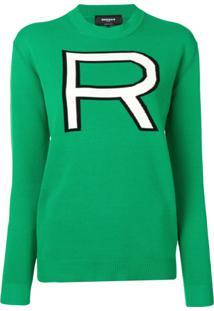 Rochas Suéter Oversized - Verde