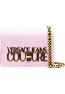Versace Jeans Couture Bolsa Transversal Pequena Com Placa De Logo - Rosa