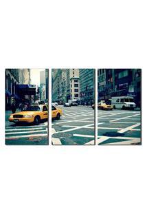 Quadro New York City Street Taxi