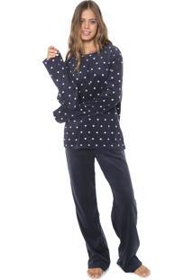 Pijama Any Any Navy Dots Azul-Marinho