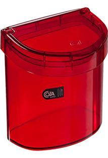Lixeira Para Pia Retro, 2.7 L, Coza, Vermelho Transparente