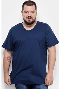 Camiseta Drezz Up Gola V Plus Size Masculina - Masculino