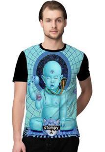 Camiseta Stompy Psicodelica29 Masculina - Masculino-Preto