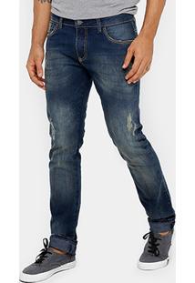 Calça Jeans Skinny Forum Igor Estonada Puídos Masculina - Masculino