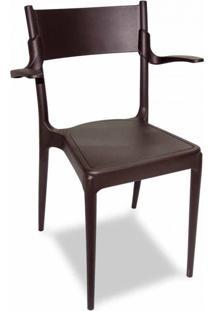 Cadeira Diana Marrom Com Braço