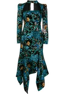 Giuseppe Di Morabito Floral Sequin Fishtail Dress - Azul