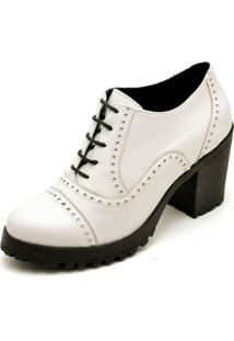 Bota Trivalle Ankle Boot Branca