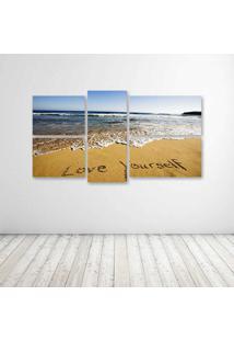 Quadro Decorativo - Love Yourself - Composto De 5 Quadros - Multicolorido - Dafiti