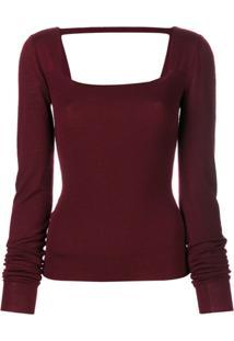 Chalayan Blusa De Tricô - Vermelho