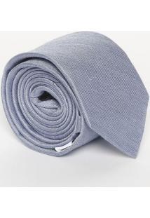 Gravata Slim Em Seda - Azul Claro - 7X152Cmcalvin Klein