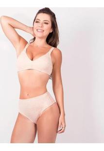 Calcinha Duloren Reforço Frontal Merlot - Feminino-Bege
