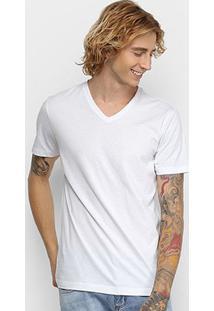 Camiseta Forum Básica Masculina - Masculino-Branco