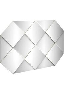 Painel Decorativo 127,5Cm C/ Espelho Off White Dalla Costa