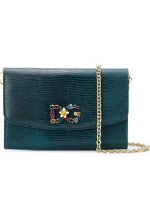 Dolce & Gabbana Bolsa De Couro 'Dg Millennials' - Azul