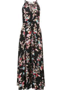 dae03fae01 ... Dvf Diane Von Furstenberg Vestido Longo De Seda Floral - Preto
