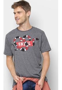 Camiseta Fatal Estampa Cobra Masculina - Masculino-Grafite