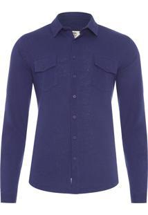 Camisa Masculina Cargo Dark Sapphire - Azul