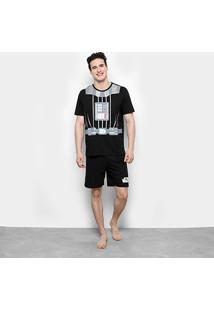 Pijama Lupo Star Wars Curto Masculino - Masculino