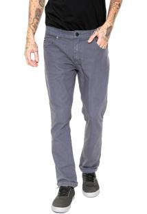 Calça Jeans Quiksilver Slim Street Color Cinza