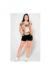 T-Shirt Kruger'S Concept Floral Rosa