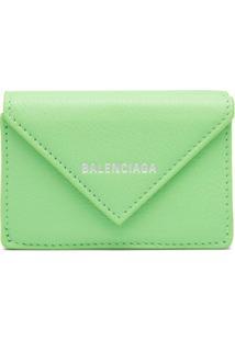 Balenciaga Carteira Papier Mini - Verde