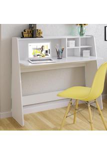 Mesa Escrivaninha De Estudo Ideia Branco - Colibri Móveis