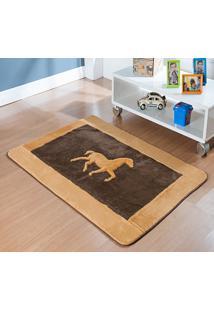 Tapete Passadeira Antiderrapante Cavalo Horse Tabaco - Multicolorido - Dafiti