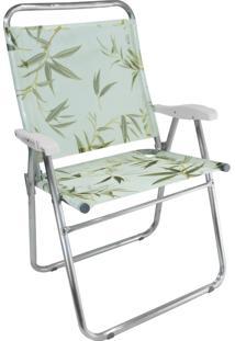 Cadeira De Praia King Zaka Em Alumínio Até 140 Kg Bambu