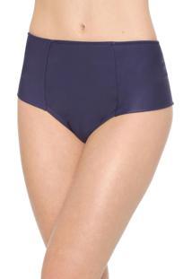 Calcinha Marcyn Hot Pant Recortes Azul-Marinho