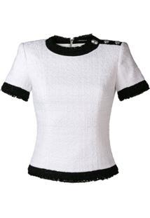 Balmain Blusa Texturizada - Branco