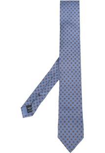 Dolce & Gabbana Gravata De Seda Estampada - Azul